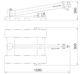 Swing Arm Forklift Boom Specifications
